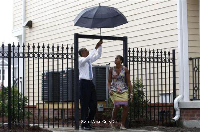 Image result for obama umbrella stuck