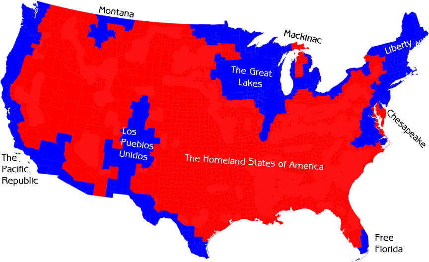 Could Secession Be Possible In The US Think Research Expose - Secession map of us