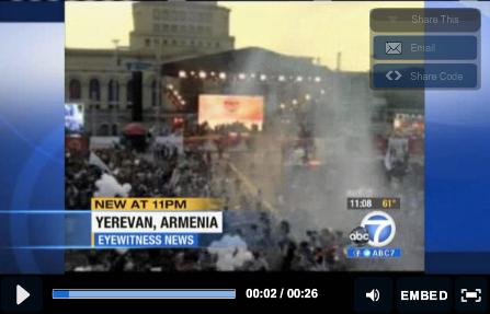 Ballon Explosion Armenia
