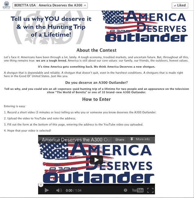 Beretta Outlander Giveaway