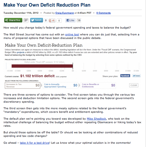 Do It Yourself Budget Reduction