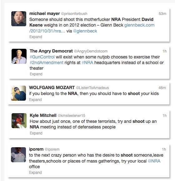 Murder NRA Tweets