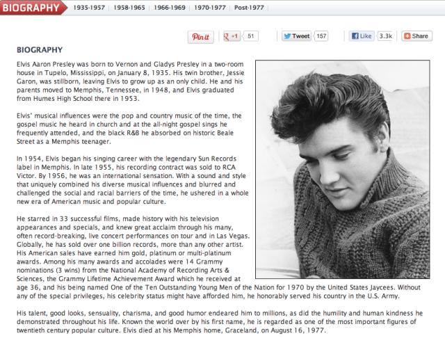 Elvis Bio