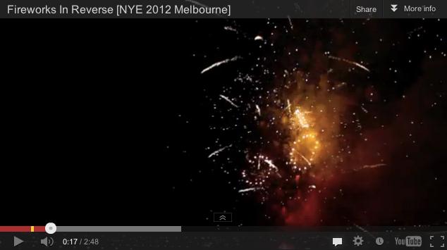 NYE Fireworks In Reverse