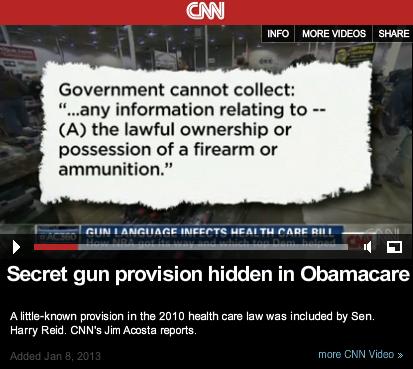 Obamacare Gun Registration