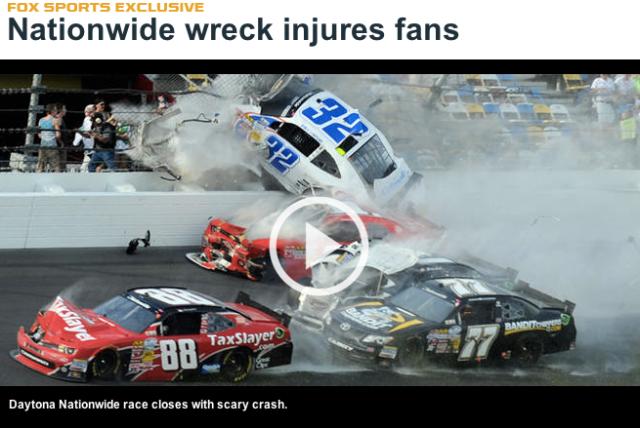 Daytona Wreck Kyle Larsen