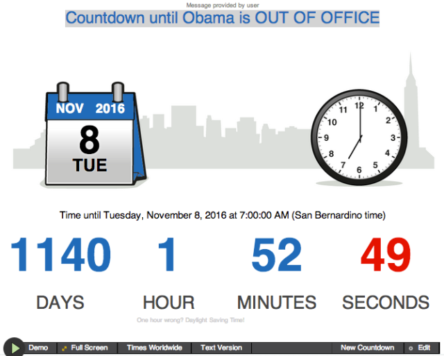 OBAMA Countdown