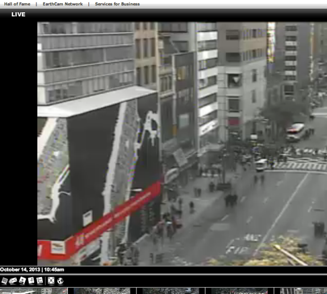 Earthcam NYC Columbus Day Parade
