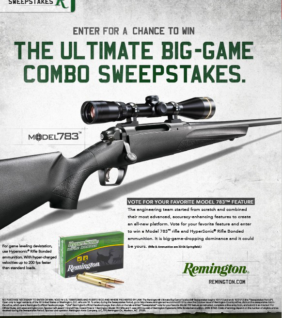 Remington Ezine Sweepstakes