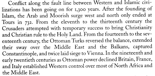 Conflict Islam & West