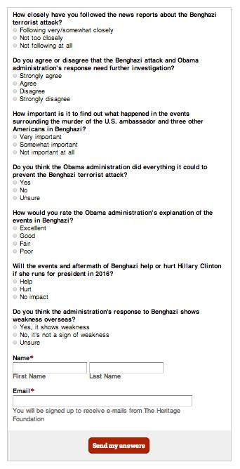 Benghazi Survey