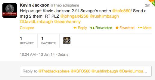 Kevin Jackson Tweet
