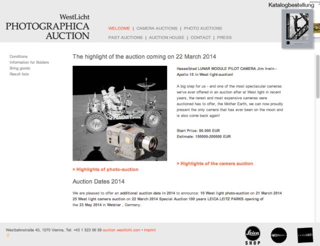 Camera Auction Vienna