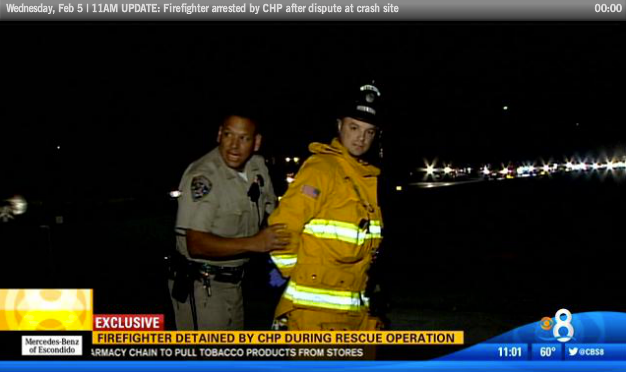 Cop Arrests Firefighter