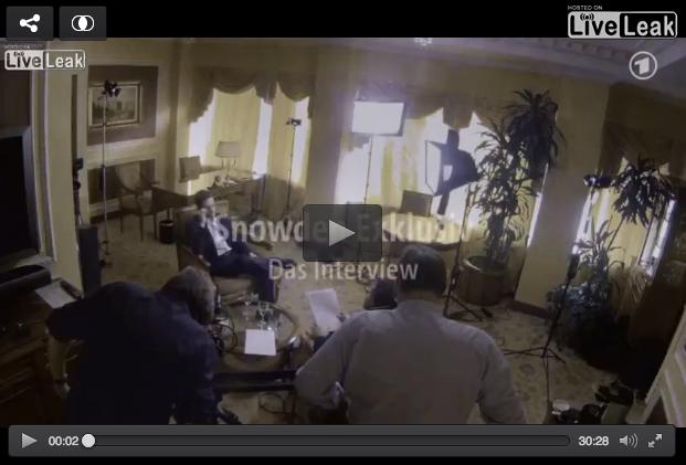 German TV Interviews Edward Snowden