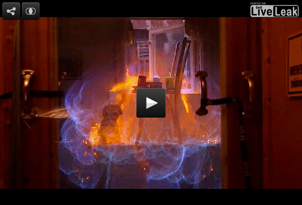 Slo Mo Kitchen Explosion