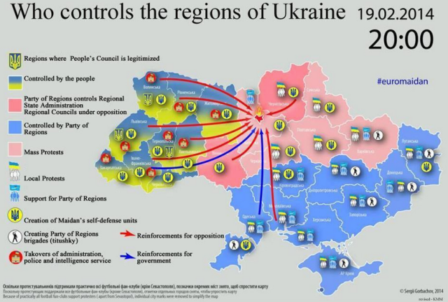 Ukraine Map Of Control