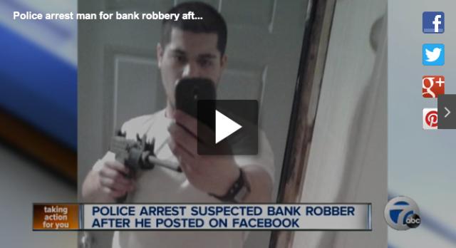 Bank Robber Selfie