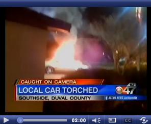 McDonalds Car Torched