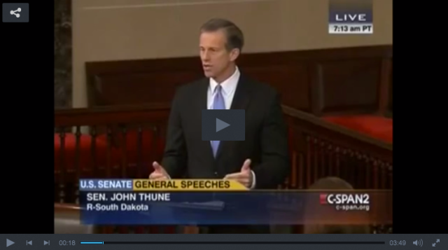 Sen Thune Calls Out Dingy Harry