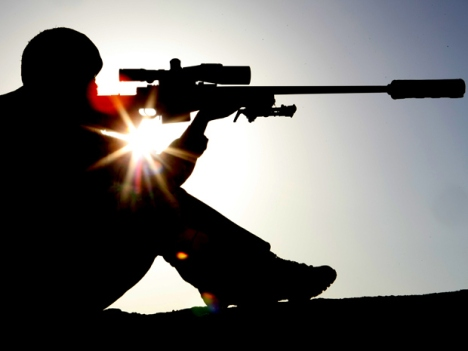 Sniper with L115 A3 Rifle