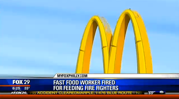 Woman Fired From McD's
