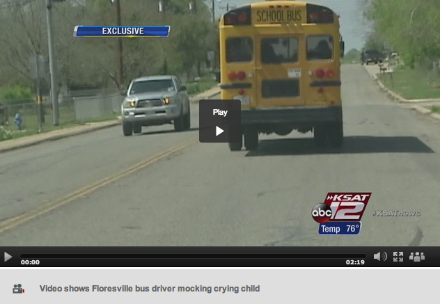 Bus Driver Taunts Crying Little Girl