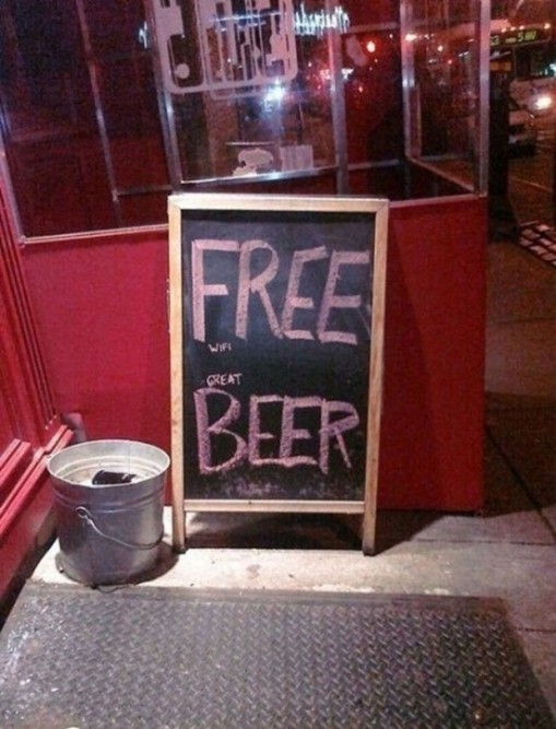 FREE wifi great BEER