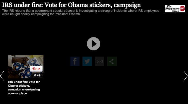 IRS Campaigns For Obama