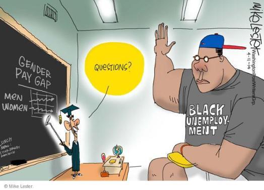 Mike Lester Black Unemployment