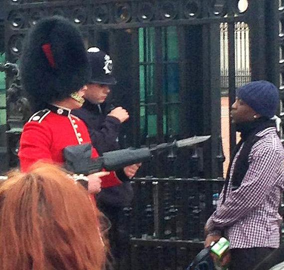 Palace Guard Bayonet Intruder