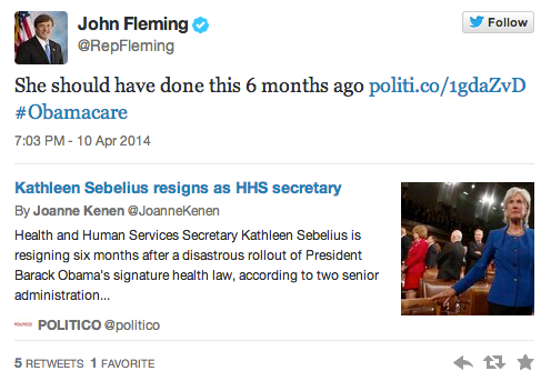 So Long Sebelius Tweet