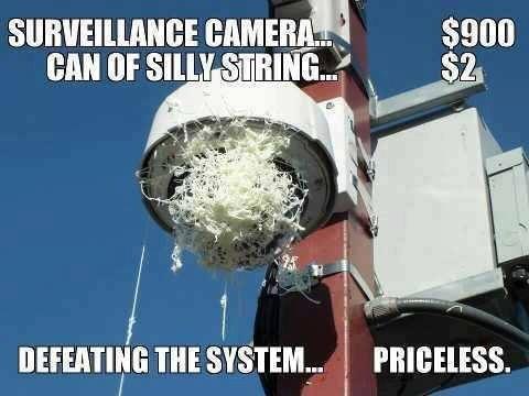 Surv Cam Silly String