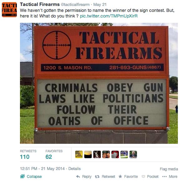 Criminals Follow Gun Laws