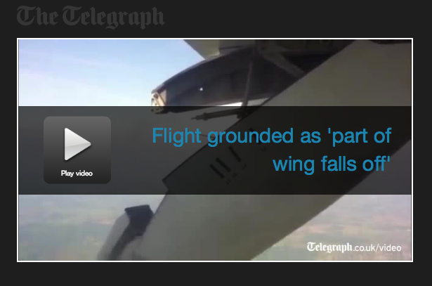 WING FALLS OFF IN MID-FLIGHT