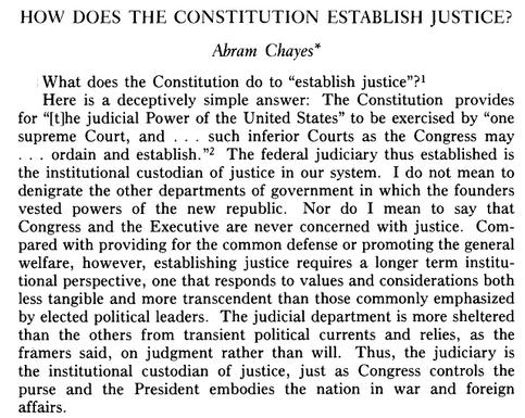 Establish Justice