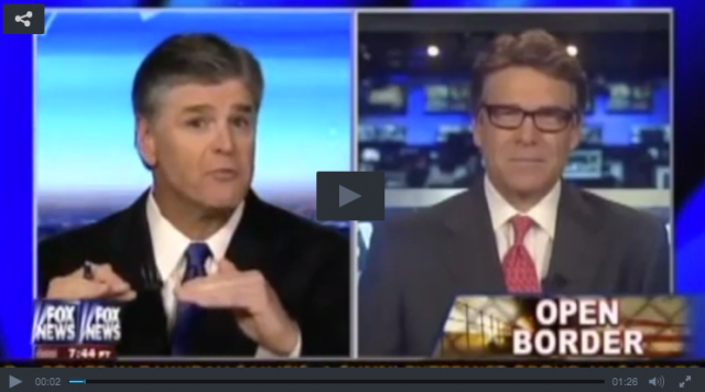 Hannity Perry Open Borders Conspiracy