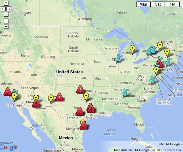 Fed Relocation Map