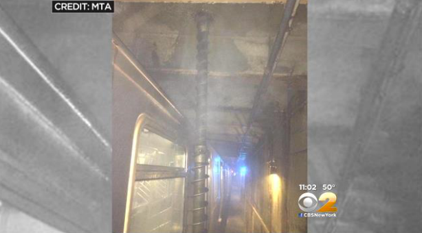 Queens Subway Car Drilled