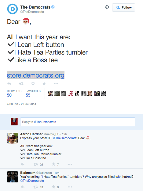 Dems Hate Tea Parties