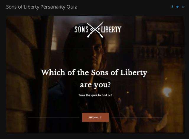 Sons Of Liberty Quiz