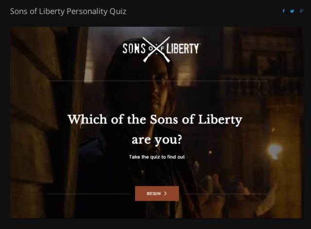 Sons Of Liberty Quiz